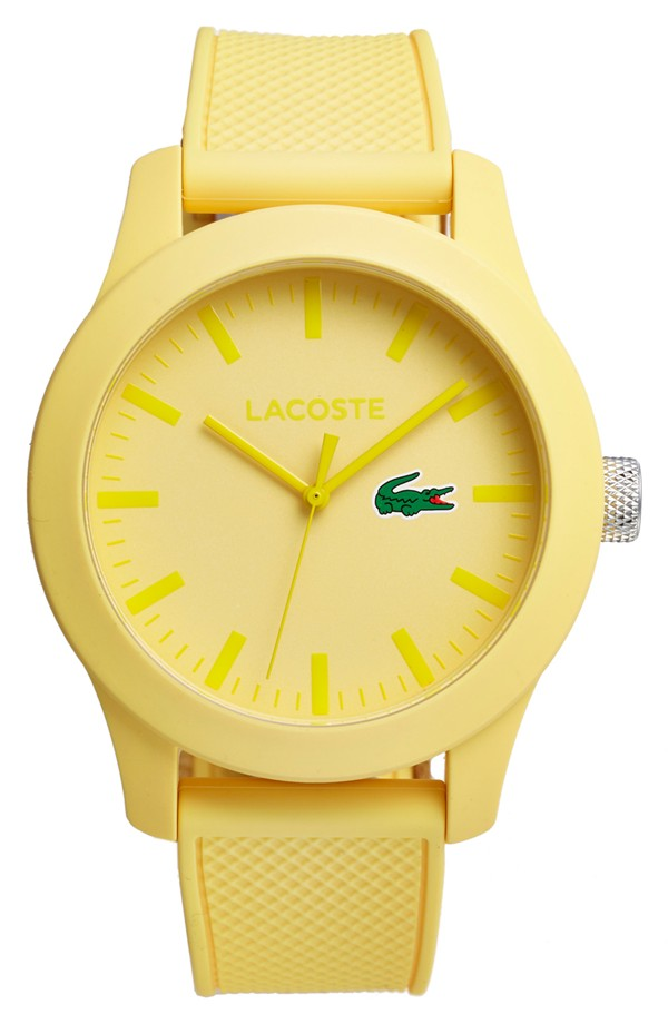 Lacoste Round Silicone Strap Watch