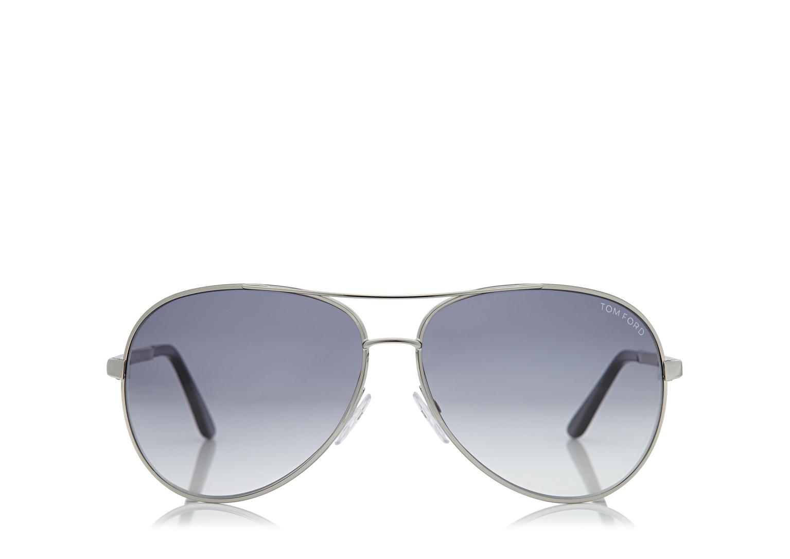 Tom Ford Charles Aviator Palladium Sunglasses