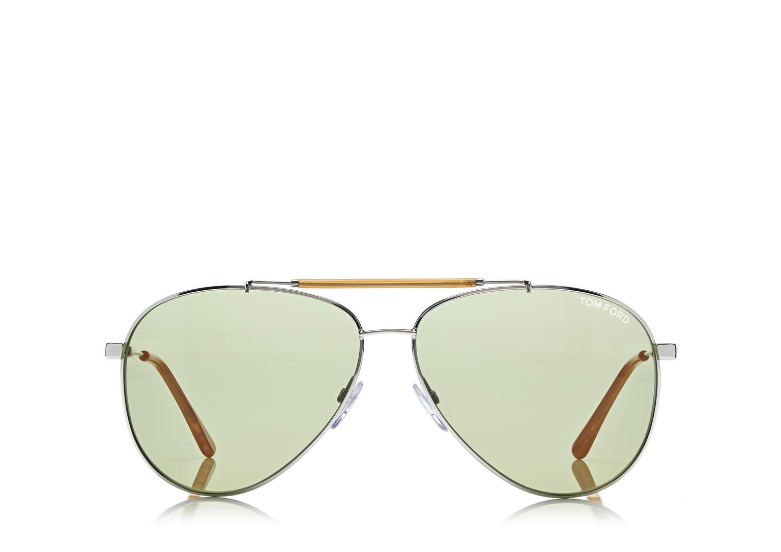 Tom Ford Rick Aviator Sunglasses in Light Ruthenium