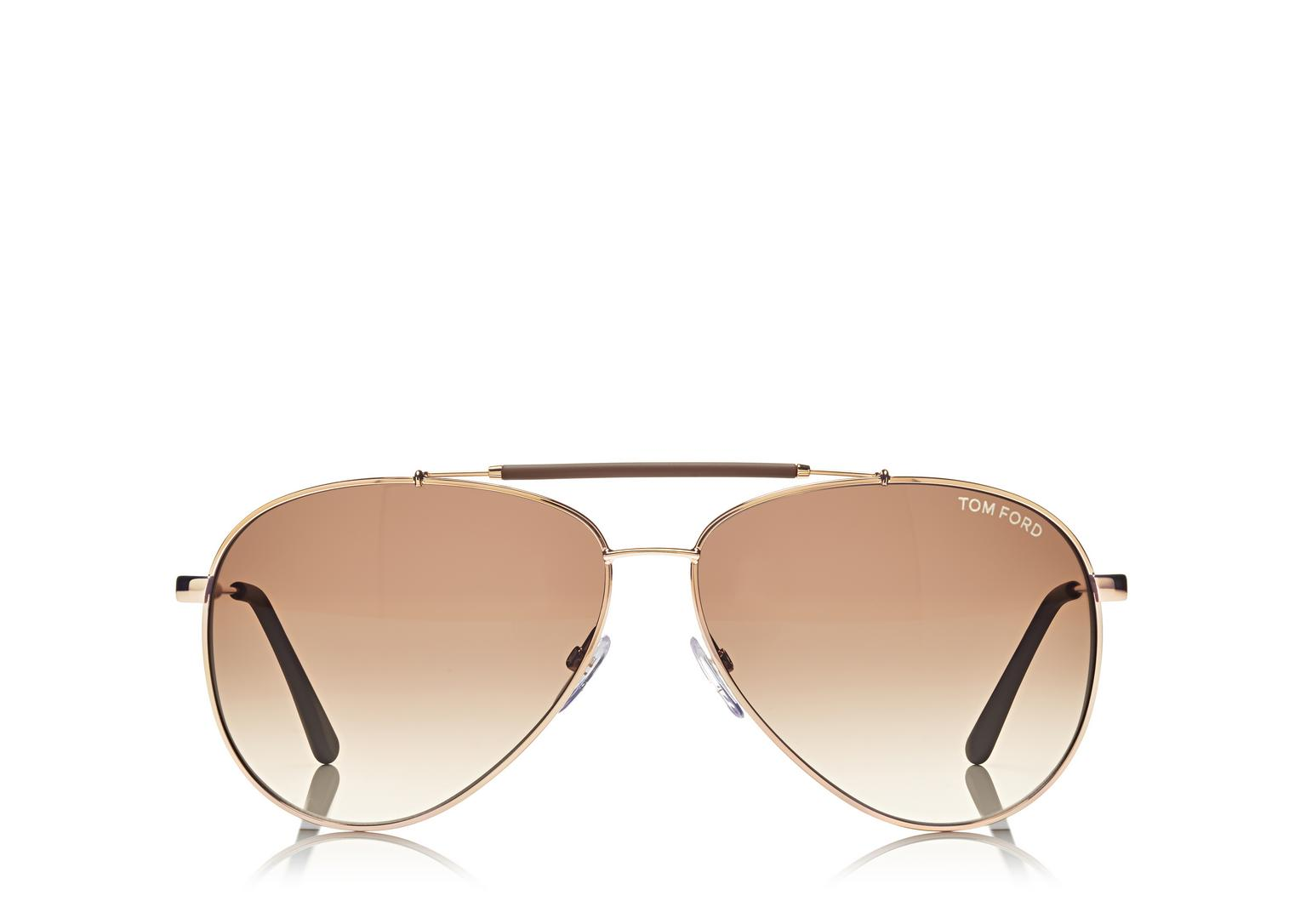 Tom Ford Rose Gold Rick Aviator Sunglasses