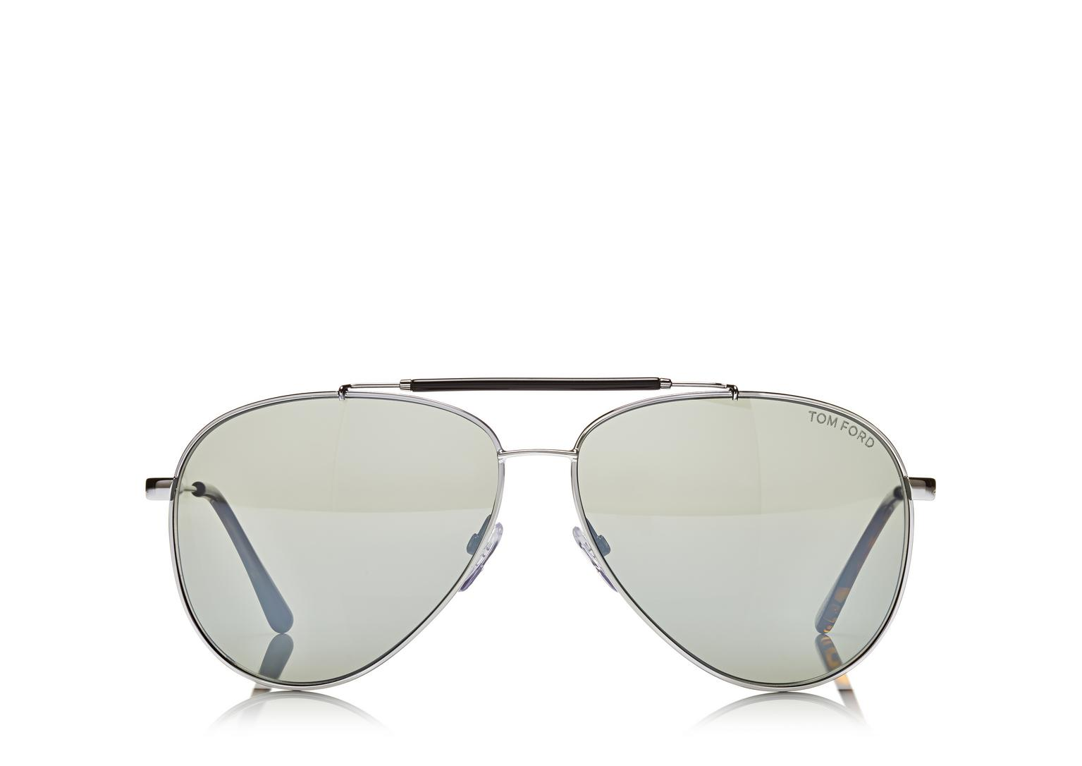 Tom Ford Ruthenium Rick Aviator Sunglasses