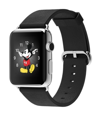 Apple Watch Stainless Steel Case Black Classic Buckle