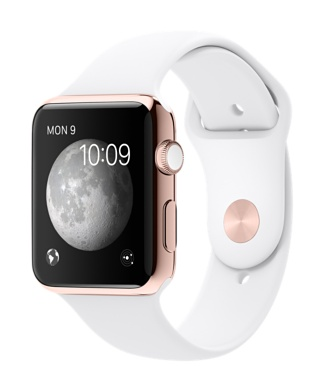 Apple Watch 18-K Rose Gold with White Sports Band