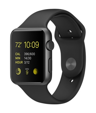 Apple Watch Space Gray Aluminum Black Sports Band