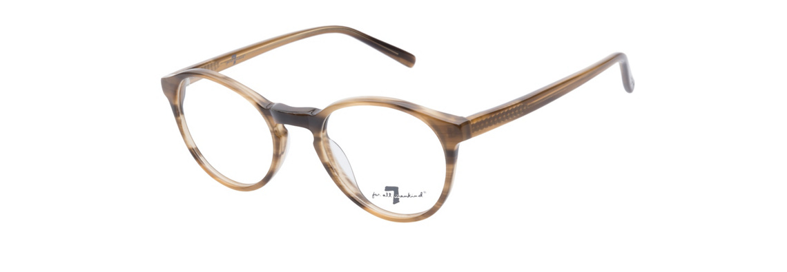 7 For All Mankind 753 Brown Horn Eyeglasses