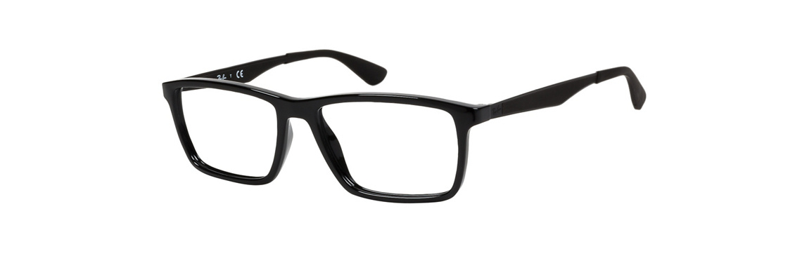 Ray-Ban RB7056 2000 Shiny Black Eyeglasses