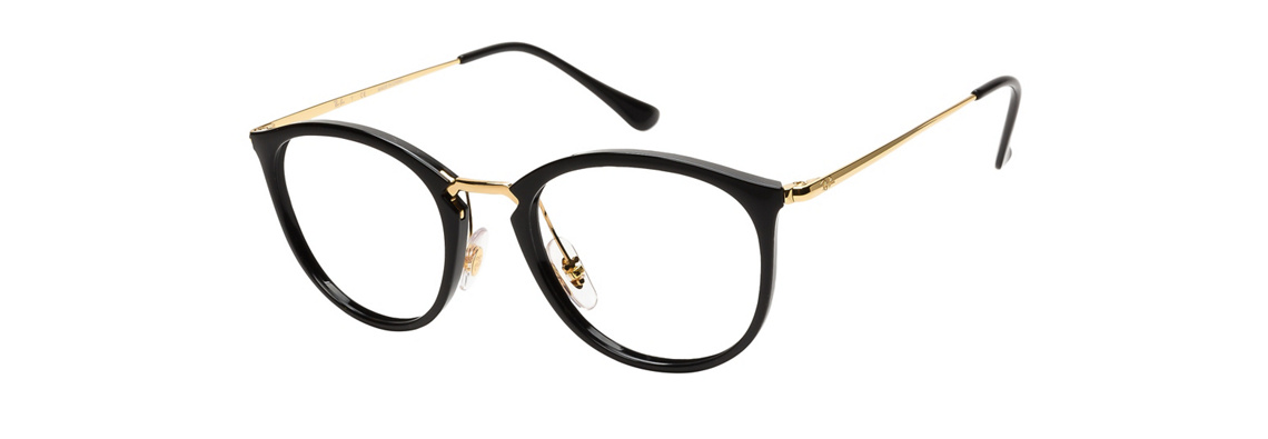 Ray-Ban RB7140 2000 Black Gold Eyeglasses