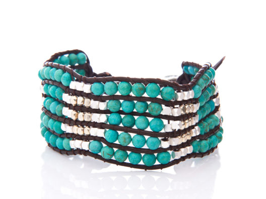 Nakamol Beaded Pattern Bracelet
