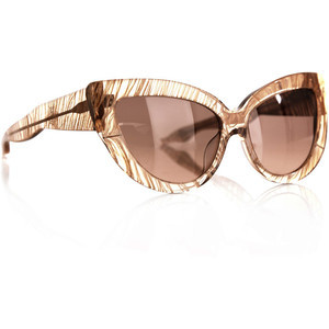 Linda Farrow x Charlotte Olympia Cat-eye Feather Sunglasses