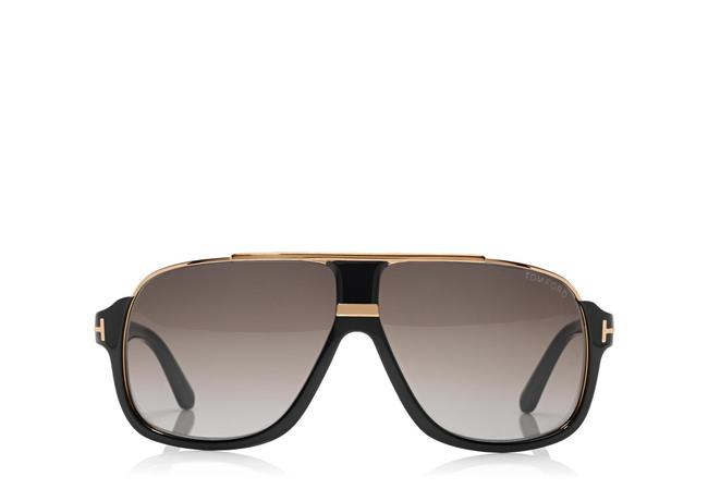 Tom Ford Elliot Square Shiny Black Sunglasses