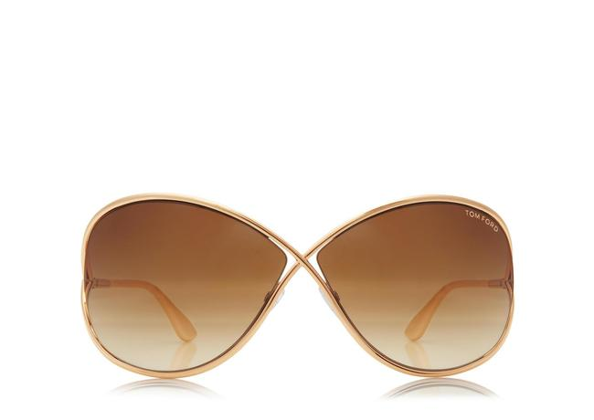 Tom Ford Rose Gold Miranda Oversized Soft Square Sunglasses