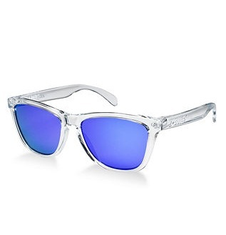 Clear Wayfarer Frames with Purple Lenses by Oakley