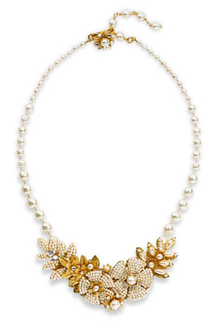 Miriam Haskell Legacy Floral & Glass Pearl Necklace