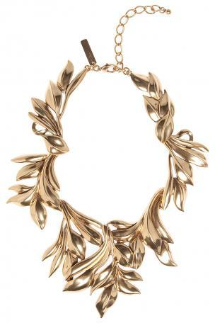 Oscar de la Renta Russian Gold Leaf Collar Necklace