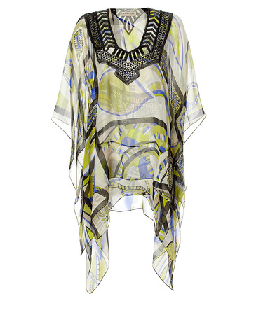 Emilio Pucci Silk Tunic with Beaded Embellishment