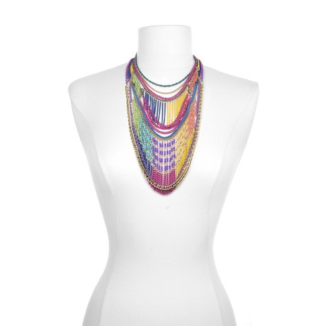 Sequin Multicolored Chain Necklace