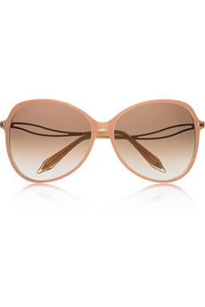 Victoria Beckham Peach-Acetate Butterfly Sunglasses