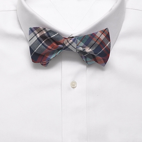 Slim Madras Bow Tie by Tommy Hilfiger