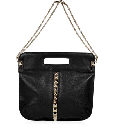 Valentino Black Studded Bag with Shoulder Bag