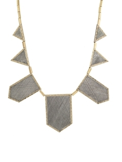 House of Harlow 1960 Two Toned Engraved Five Station Necklace