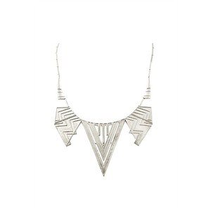 House of Harlow 1960 Chevron Five Station Necklace in Silver