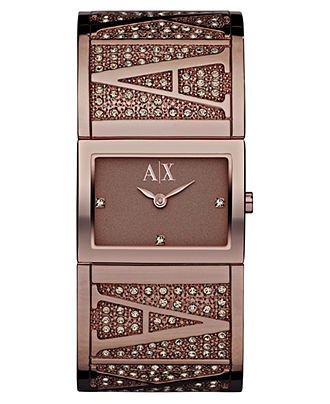 AX Armani Exchange Brown Ion Plated Stainless Steel Watch