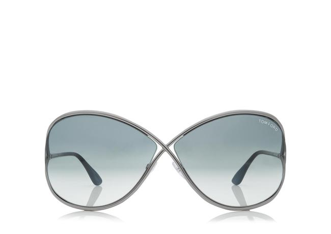 Tom Ford Gunmetal Miranda Oversized Soft Square Sunglasses