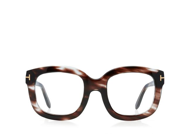 Tom Ford Marrone Oversized Square Optical Frame