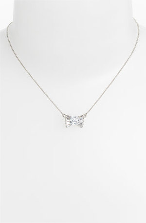 Kate Spade New York Le Soir Bow Pendant Necklace
