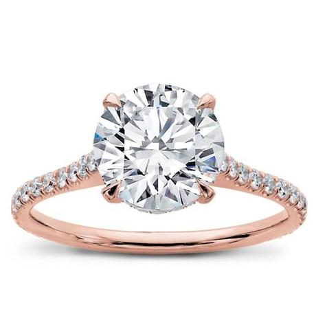 Adiamor French Cut Diamond Basket Engagement Ring