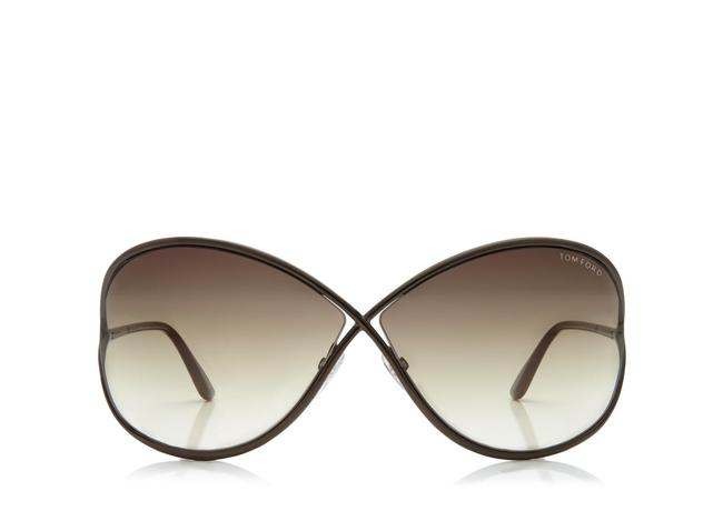 Tom Ford Bronze Miranda Oversized Soft Square Sunglasses