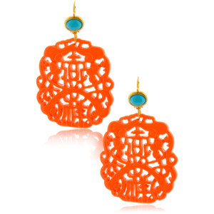 BALI Coral Carved Earrings