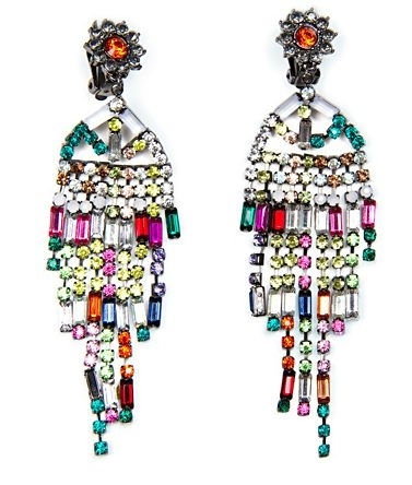 Jewel Chandelier Earrings by Mango Touch