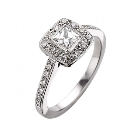 EC One Square Emma Diamond Ring