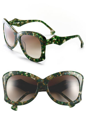Green Multi Color Exotic Sunglasses by Lumete
