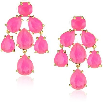 Hot-pink chandelier earrings by Kate Spade