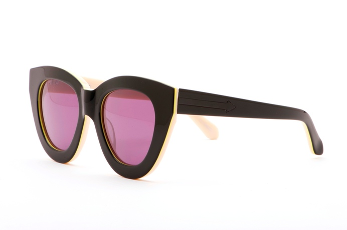 Karen Walker Anytime - Black Fluro