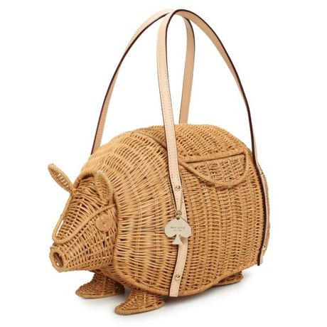 Kate Spade Straw Armadillo Bag