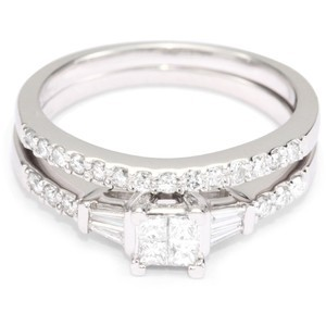 Kobelli Princess Diamond Wedding Set Rings