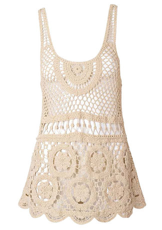 Layla Crochet Tank by Alloy