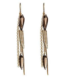 Liz Larios Thorn Two-Tone Fringe Earrings