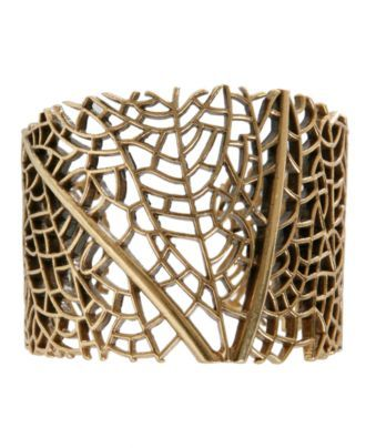 Lucky Brand Gold Tone Open Work Cuff