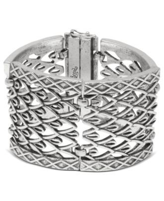 Lucky Brand Silver Link Cuff