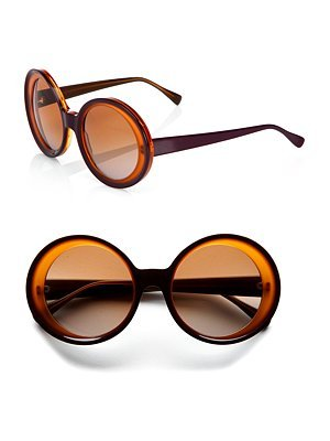 Marni Oversized Two-Toned Round Plastic Sunglasses
