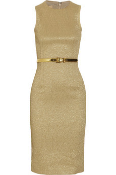 Michael Kors Belted Jacquard Dress