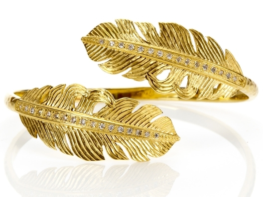 Nina Feather Wrap Bangle by Melinda Maria