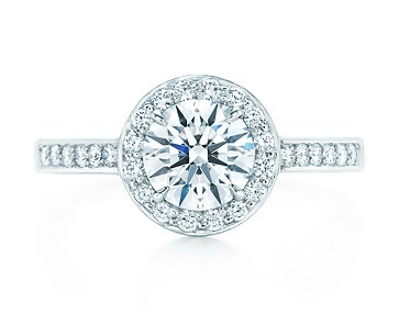 Tiffany Embrace Round & Diamond Halo Engagement Ring
