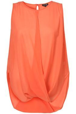 Topshop Draped Sleeveless Top