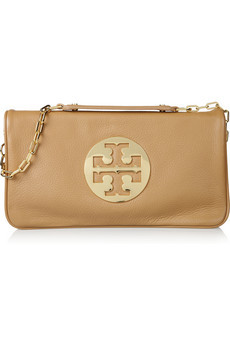 Tory Burch Reva Textured-Leather Fold-Over Shoulder Bag