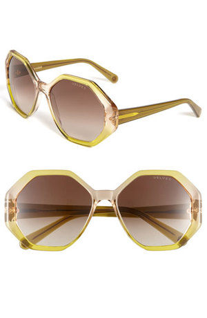 Yellow Geometric Sunglasses by Velvet